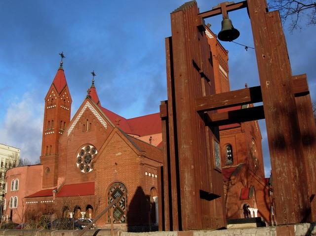 Красный костел в Минске, Костел святых Симеона и Елены в Минске